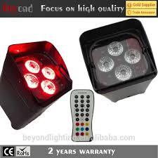 easy power emergency light led uplight 4pcs 12w 6in1 easy power charging battery led par light
