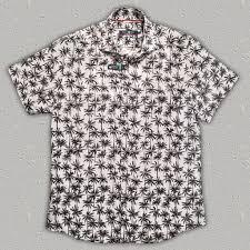 palm tree sleeve print linen cotton shirt road apparel