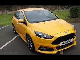 used ford focus st3 used ford focus 2 0 tdci 185 st 3 5dr tangerine scream 2015