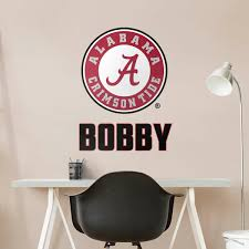 alabama alumni sticker alabama crimson tide fathead wall decals more shop college