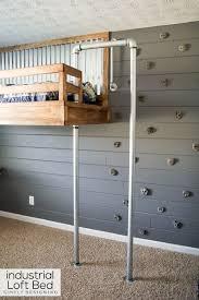 simple kids bedroom mezzanine small space living raised platform