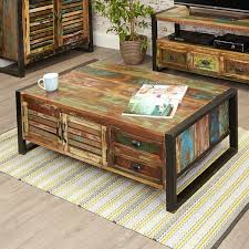 industrial coffee table with drawers coffee table with 4 drawers find more at big blu