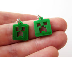 minecraft earrings minecraft creeper earrings by milkool on deviantart