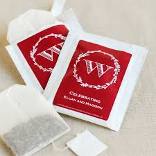 tea bag favors personalized silhouette collection tea bag favors