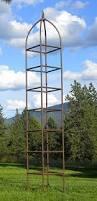 Obelisk Trellis Metal Amazon Com H Potter Trellis Large Obelisk For Climbing Garden