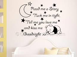 Girls Bedroom Wall Quotes Read Me A Story Nursery Wall Sticker Quote With Sleeping Baby