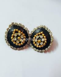 black ear studs black ear studs with stones and all ap crafts all ap crafts
