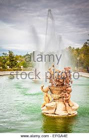 ornamental fountains of the palace of aranjuez madrid spain