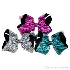 bow for hair christmas hair bows mermaid jojo bows with clip laser cut