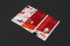 trifold sushi menu template brandpacks