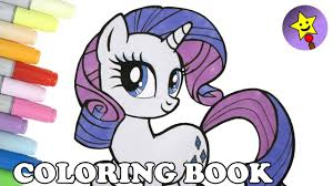 rarity coloring book page mlp my little pony rarity coloring page