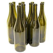wine bottles empty wine bottles burgundy style 750 ml green