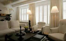 interior modern living room ideas with plantation shutters