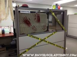 Cubicle Decorating Contest Ideas Outstanding Halloween Office Decorations Cubicle Bloody Handprint
