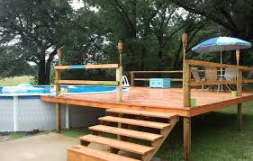 above ground pool deck installation u2014 optimizing home decor ideas