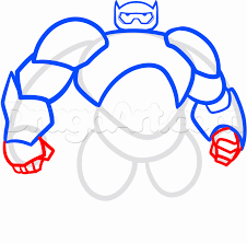 how to draw baymax from big hero 6 step by step disney