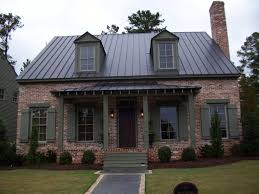 brick house with metal roof google search curb appeal