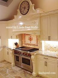 Kitchen With Tile Backsplash Italian Design Still Kitchen Tile Backsplash Mural