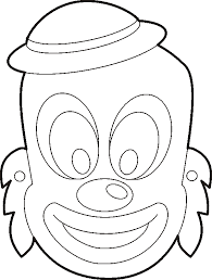 clown mask template kids tags clown mask template coloring