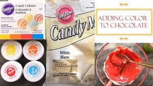 how to color chocolate simple tips youtube