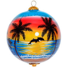 glorious hawaiian sunset ornament by design