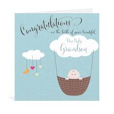 adorable newborn baby congratulation greeting card idea with