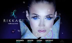 website for makeup artist rikkagi makeup artist designed by graphasel design studio