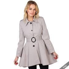 uk la s classic asymmetric mac jacket womens military belted