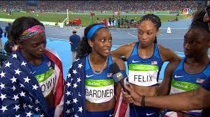 Usa Track And Field Map It by United States Zips To Victory In Women U0027s 4x100m Relay Nbc Olympics