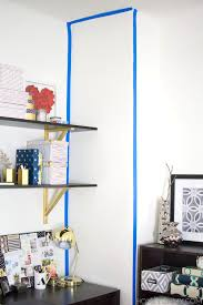 How To Paint An Accent Wall by How To Create A Striped Accent Wall Without Paint Homey Oh My