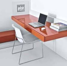 Modern Wall Desk Pull Out Wall Desk Orange Sleek Modern Wall Mounted Desks With