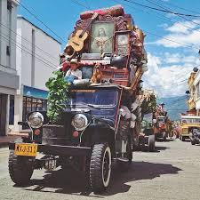 Every Year These Colombian Jeeps Are Loaded With Everything But - Everything and the kitchen sink