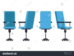 Office Chair Side View Office Desk Chair Various Points View Stock Vector 619272983