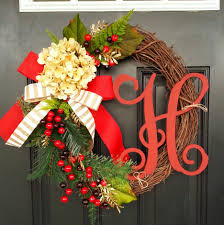 Decorative Wreaths For Home by Pleasant Christmas Outdoor Home Decoration Showing Harmonious