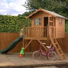 outdoor playhouse with slide outdoor designs