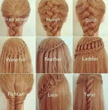 different types of braids and their names hair makeup