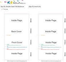 gate fold brochure template printing templates my printing