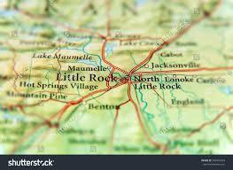 Arkansas Map Us Geographic Map Us State Arkansas Little Stock Photo 540476263