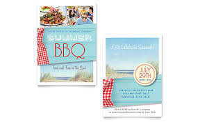 summer bbq invitation template word u0026 publisher