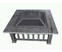 Table Patio Heaters by Foxhunter Garden Steel Fire Pit Firepit Brazier Square Patio