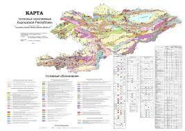 Geological Map Large Scale Geological Map Of Kyrgyzstan In Russian Kyrgyzstan