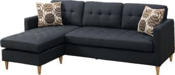 2 piece reversible sectional sofa chaise set with 2 accent pillows