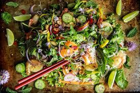 noodle salad recipes vietnamese shrimp noodle salad heather christo