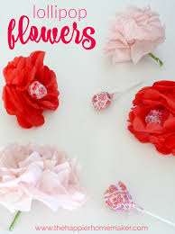 Flowers For Valentines Day Valentine U0027s Day Craft Tissue Paper Flower Lollipops The