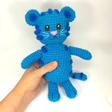 daniel tiger plush toys blue tiger crochet doll pattern inspired by tigey daniel