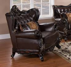 traditional sofa traditional sofa in dark cherry bonded leather w options