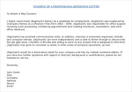 Examples Of Resume References by Letter Of Reference Format Best 25 Writing A Reference Letter