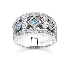 gold diamond band barkev s white gold band with white blue diamond