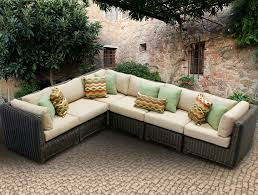 Curved Patio Sofa Wonderful Impressive Outdoor Sofa With Chaise 25 Awesome Modern