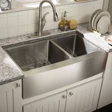 Farmhouse Double Bowl New In  Kitchen Native Trails - Sink of kitchen